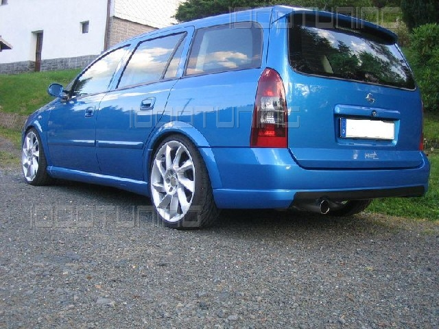 opel astra g caravan roof spoiler rear spoiler spoiler opc tuning ebay. Black Bedroom Furniture Sets. Home Design Ideas