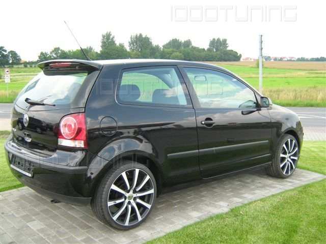 vw polo 9n roof spoiler spoiler rear spoiler tuning ebay. Black Bedroom Furniture Sets. Home Design Ideas