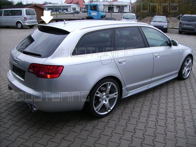 audi a6 c6 4f avant dachspoiler heckspoiler s line s6 rs6. Black Bedroom Furniture Sets. Home Design Ideas
