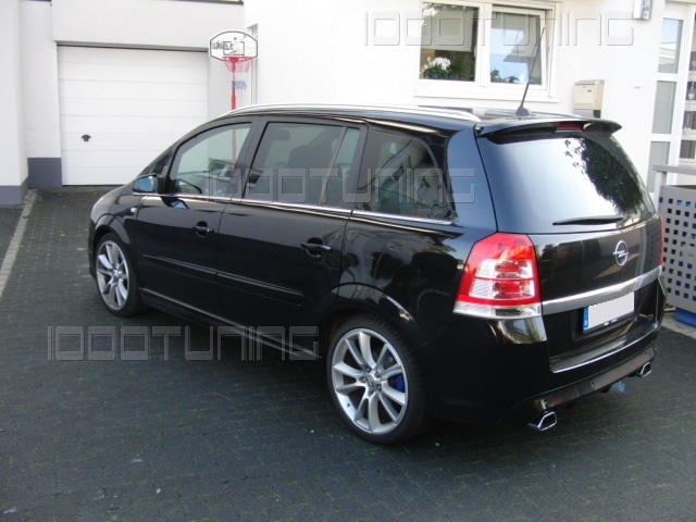 opel zafira b new opc spoiler tetto spoiler posteriore ebay. Black Bedroom Furniture Sets. Home Design Ideas